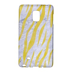 Skin3 White Marble & Yellow Watercolor (r) Galaxy Note Edge