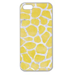 Skin1 White Marble & Yellow Watercolor (r) Apple Seamless Iphone 5 Case (clear)