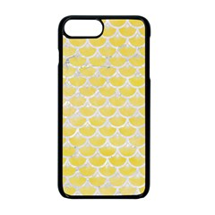 Scales3 White Marble & Yellow Watercolor Apple Iphone 8 Plus Seamless Case (black)