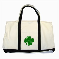 Sparkly Clover Two Tone Tote Bag