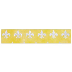 Royal1 White Marble & Yellow Watercolor (r) Small Flano Scarf