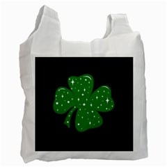 Sparkly Clover Recycle Bag (one Side)