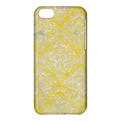 Damask1 White Marble & Yellow Watercolor Apple Iphone 5c Hardshell Case