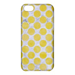 Circles2 White Marble & Yellow Watercolor (r) Apple Iphone 5c Hardshell Case