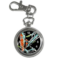 Multicolor Abstract Design Key Chain Watches