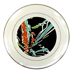 Multicolor Abstract Design Porcelain Plates
