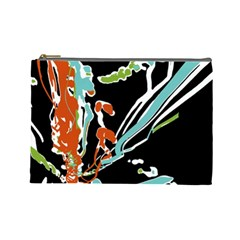 Multicolor Abstract Design Cosmetic Bag (large)
