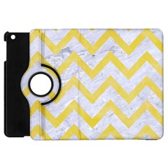 Chevron9 White Marble & Yellow Watercolor (r) Apple Ipad Mini Flip 360 Case