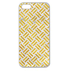 Woven2 White Marble & Yellow Marble (r) Apple Seamless Iphone 5 Case (clear)