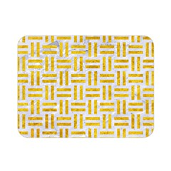 Woven1 White Marble & Yellow Marble (r) Double Sided Flano Blanket (mini)