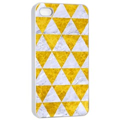 Triangle3 White Marble & Yellow Marble Apple Iphone 4/4s Seamless Case (white)