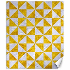 Triangle1 White Marble & Yellow Marble Canvas 20  X 24