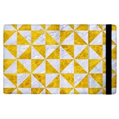Triangle1 White Marble & Yellow Marble Apple Ipad 3/4 Flip Case