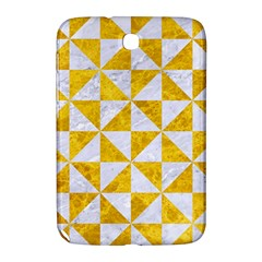 Triangle1 White Marble & Yellow Marble Samsung Galaxy Note 8 0 N5100 Hardshell Case