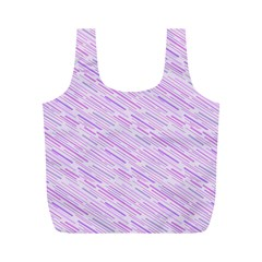 Silly Stripes Lilac Full Print Recycle Bags (m)
