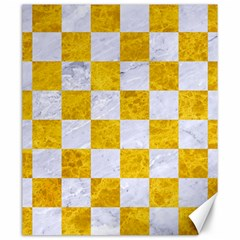 Square1 White Marble & Yellow Marble Canvas 20  X 24
