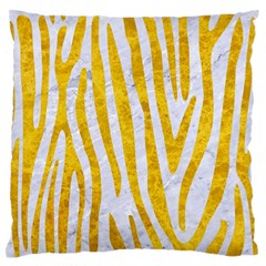 Skin4 White Marble & Yellow Marble Large Flano Cushion Case (one Side)