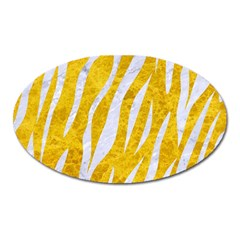 Skin3 White Marble & Yellow Marble Oval Magnet