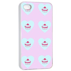 Pink Cupcake Apple Iphone 4/4s Seamless Case (white)