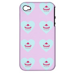 Pink Cupcake Apple Iphone 4/4s Hardshell Case (pc+silicone)