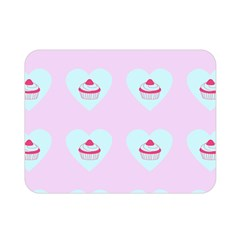 Pink Cupcake Double Sided Flano Blanket (mini)
