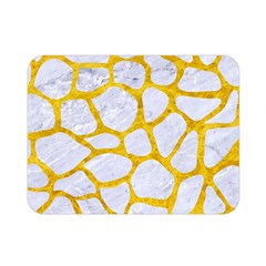 Skin1 White Marble & Yellow Marble Double Sided Flano Blanket (mini)