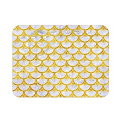 Scales3 White Marble & Yellow Marble (r) Double Sided Flano Blanket (mini)