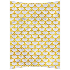 Scales3 White Marble & Yellow Marble (r) Back Support Cushion
