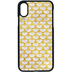 Scales3 White Marble & Yellow Marble (r) Apple Iphone X Seamless Case (black)