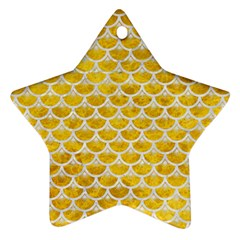 Scales3 White Marble & Yellow Marble Star Ornament (two Sides)