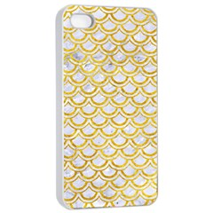 Scales2 White Marble & Yellow Marble (r) Apple Iphone 4/4s Seamless Case (white)