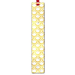 Scales2 White Marble & Yellow Marble (r) Large Book Marks