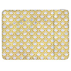 Scales2 White Marble & Yellow Marble (r) Samsung Galaxy Tab 7  P1000 Flip Case