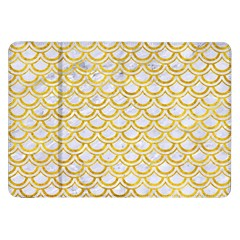 Scales2 White Marble & Yellow Marble (r) Samsung Galaxy Tab 8 9  P7300 Flip Case