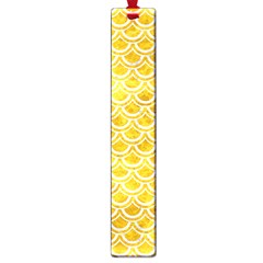 Scales2 White Marble & Yellow Marble Large Book Marks