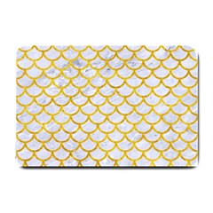Scales1 White Marble & Yellow Marble (r) Small Doormat