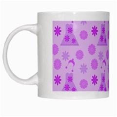 Purple Dress White Mugs