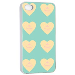 Teal Cupcakes Apple Iphone 4/4s Seamless Case (white)