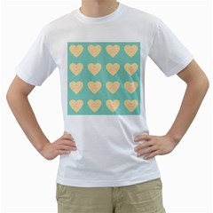 Teal Cupcakes Men s T Shirt (white)