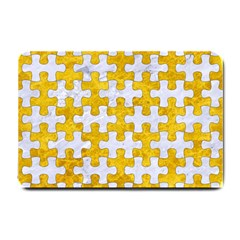 Puzzle1 White Marble & Yellow Marble Small Doormat