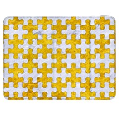 Puzzle1 White Marble & Yellow Marble Samsung Galaxy Tab 7  P1000 Flip Case