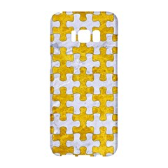 Puzzle1 White Marble & Yellow Marble Samsung Galaxy S8 Hardshell Case