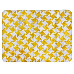 Houndstooth2 White Marble & Yellow Marble Samsung Galaxy Tab 7  P1000 Flip Case