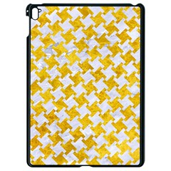 Houndstooth2 White Marble & Yellow Marble Apple Ipad Pro 9 7   Black Seamless Case