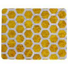 Hexagon2 White Marble & Yellow Marble Jigsaw Puzzle Photo Stand (rectangular)
