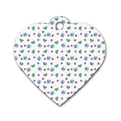 White Milk Hearts Dog Tag Heart (one Side)