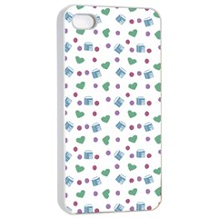 White Milk Hearts Apple Iphone 4/4s Seamless Case (white)