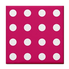 Pink Dot Tile Coasters