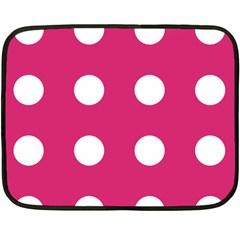 Pink Dot Fleece Blanket (mini)