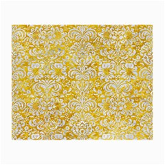 Damask2 White Marble & Yellow Marble Small Glasses Cloth (2 Side)